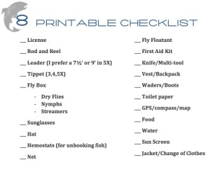 Fly Fishing Checklist