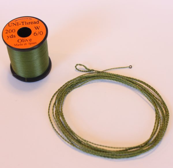 Olive Uni-thread Furled Leader